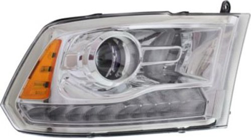 DEPO-334-1137R-AS1 fits Dodge Ram 1500 Pickup 13-15 Headlight Assembly Laramie Longhorn Projector Type Chrome RH Side 68093216AC CH2503244