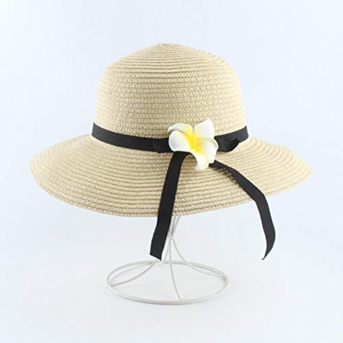 ASIG Zomer bloem strandmuts vrouwen grote brede rand strohoed zonnehoed opvouwbare zonneblok