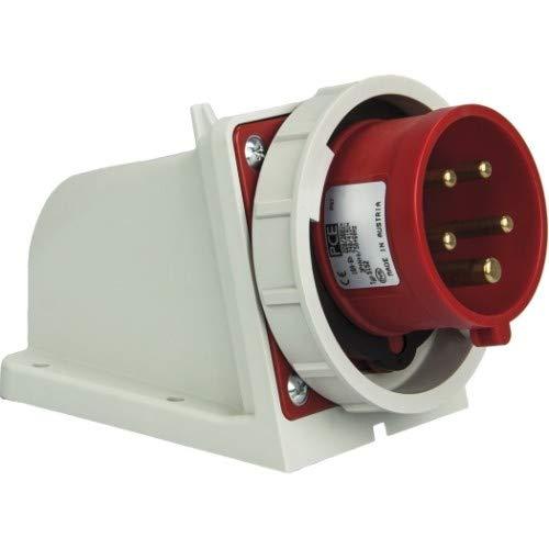 SIROX® CEE-Wandgerätestecker IP 67, 5-polig, 400 V, 6 h Stromstärke 16 A, Phasenwender nein, vernickelte Kontakte nein