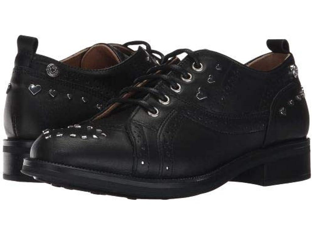 二年生割り当てる陪審Love Moschino(ラブ モスキーノ) レディース 女性用 シューズ 靴 オックスフォード 紳士靴 通勤靴 Brogue - Black/Silver [並行輸入品]