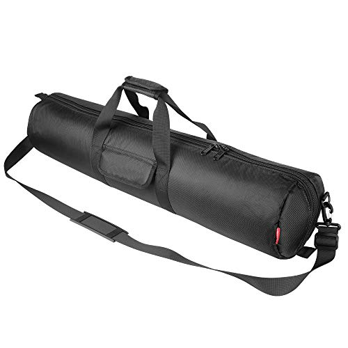 Hemmotop Tripod Carrying Case Bag 31x7x7in/80x18x18cm Heavy Duty with Storage Bag and Shoulder Strap Padded Carrying Bag for Light Stands, Boom Stand, Speaker Stands, Mic Stands and Tripod