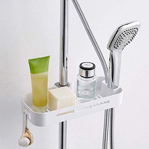 Opslag plank voor douche zeep of Shampoo houder Douchepost Telescopische ABS handdoeken montage zonder boren badkamer planken