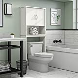 Ameriwood Home Classic Over The Toilet Storage Cabinet, 63.6H x 26.69W x 9.84D, White