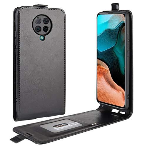 HualuBro Xiaomi Poco F2 Pro Hülle, Premium PU Leder Brieftasche Schutzhülle HandyHülle [Magnetic Closure] Handytasche Flip Hülle Cover für Xiaomi Poco F2 Pro Tasche (Schwarz)