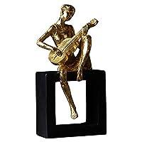 STBAAS 手工芸品の装飾、装飾現代の装飾品、現代のミュージシャンの置物ヴァイオリンの人々像樹脂工芸品の家の居間の装飾品