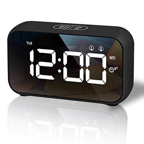 HOMVILLA Sveglia Digitale, Sveglia da Comodino LED con 40 suonerie...