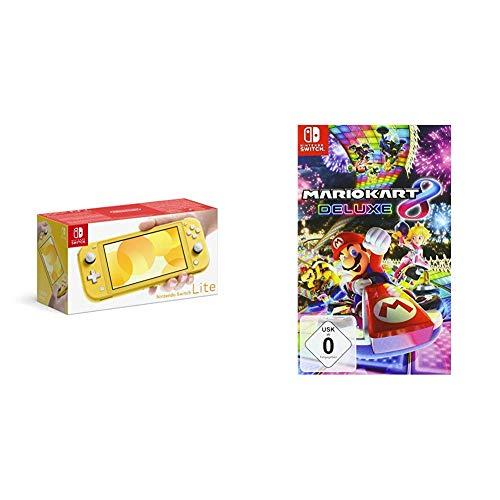 Nintendo Switch Lite, Standard, gelb + Mario Kart 8 Deluxe [Nintendo Switch]