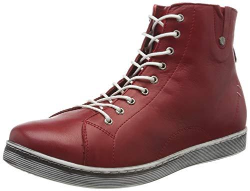 Andrea Conti Damen 0027913 Hohe Sneaker, Rot (Chili 583), 39 EU