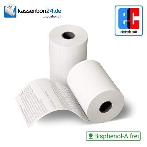 Bonrolle, Thermopapier, EC-Cash, Bisphenol-A frei, 57mm / 14m / 12mm, 50 Stk. / Karton von Kassenbon24