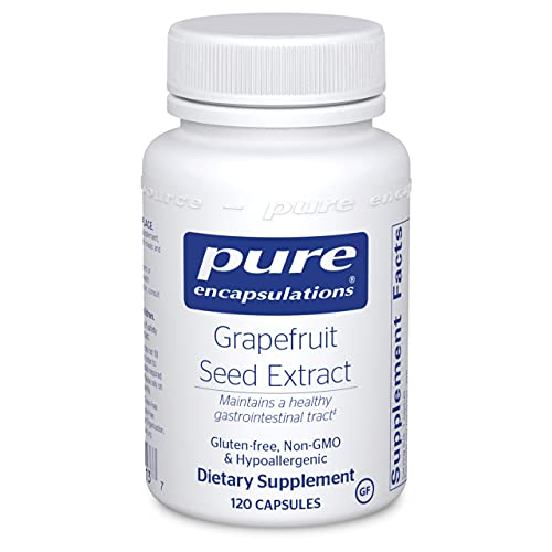 Pure Encapsulations Grapefruit Seed Extract   Supplement to Support The Balance of Intestinal Microorganisms and G.I. Tract*   120 Capsules
