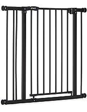 Hauck Barrera de Seguridad de Niños para Puertas y Escaleras Close N Stop Safety incl. Extension 9 cm, Sin Agujeros, 84 - 89 cm, Metal, Negro