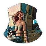 Leo-Shop Seduto su Uno Scaldacollo a Barca di Mare, Copricapo da Collo Copricapo da Motociclista per Donna Uomo Sciarpa per Il Viso Bandana