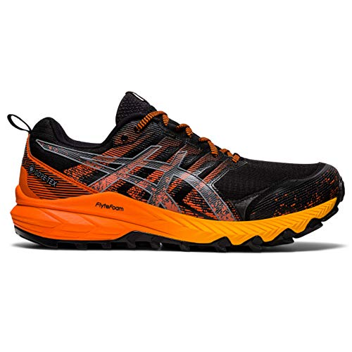 Asics Gel-Trabuco 9 G-TX, Trail Running Shoe Hombre, Black/Sheet Rock, 43.5 EU