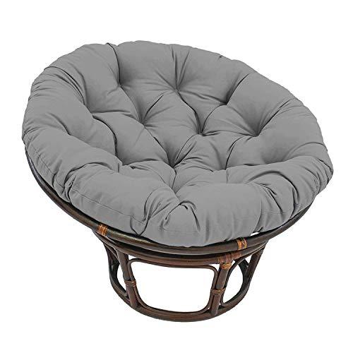 SJKDXL Runde Papasansessel Stuhl Auflage,Papasan-Kissen, Wasserabweisend, Ø 120cm【Stuhl Nicht Enthalten】(Color:grau)