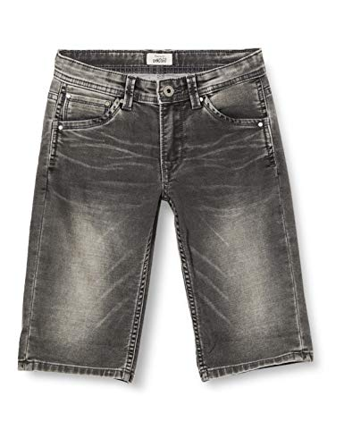 Pepe Jeans CASHED Short Jean Slim, Gris (Denim 000), 16-17 Anos para Niños