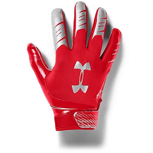 Under Armour Men's F7 Football Gloves , Red (600)/Metallic Silver , Medium