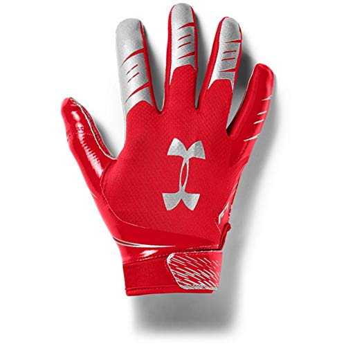 Under Armour Men's F7 Football Gloves , Red (600)/Metallic Silver , Large
