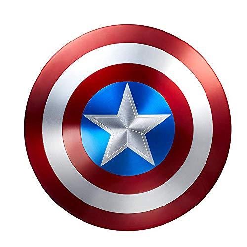 BLL Capitán América Shield, Avengers 4 Juguetes para Adultos, Película 75 Aniversario Edición de Coleccion Aleación de Grado de aviación 1 a 1 Metal