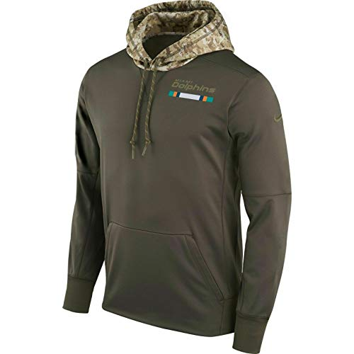 Nike Mens Miami Dolphins 2017 Salute to Service Hoodie XXX-Large