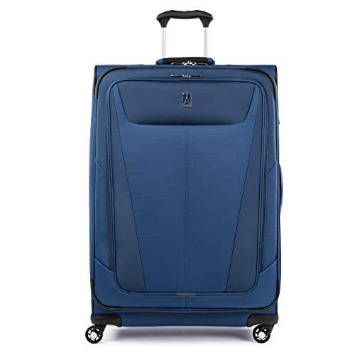 Travelpro Maxlite 5-Softside Expandable Spinner Wheel Luggage, Sapphire Blue, Checked-Large 29-Inch