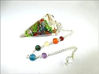 Jet Mix Onyx Orgone Pendulum 2 inch Jet International Crystal Therapy Healing Power Peace Prosperity Divine Gemstone
