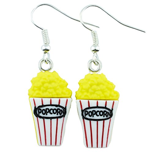 The Funky Barcode MOVIE NIGHT POPCORN DANGLE EARRINGS Gift Box Available
