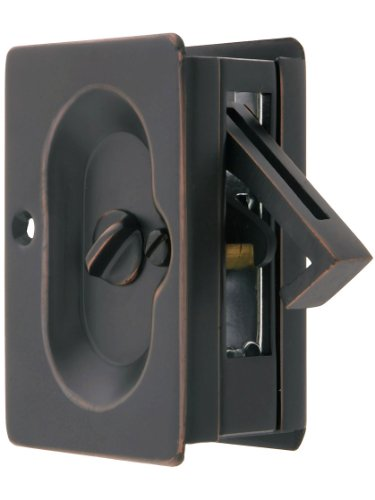 Emtek Premium Quality Mid-Century Pocket Door Privacy Lock