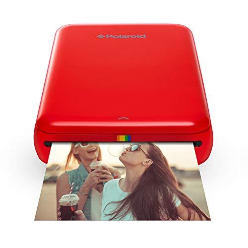 Polaroid ZIP Handydrucker mit ZINK Zero tintenfreier Drucktechnologie - Rot + 2x3 Zoll Premium ZINK Fotopapier (50 Blatt) - Kompatibel mit Polaroid Snap, Z2300, SocialMatic Sofortbildkameras