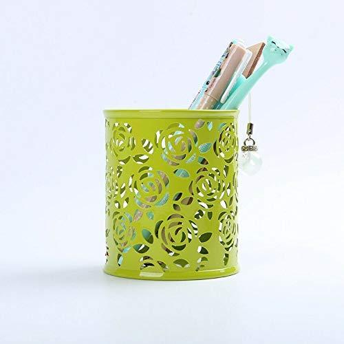 Portabolígrafos Porta lápices para escritorio, 1 bote redondo para lápices para oficina, organizador de almacenamiento en el hogar (verde)
