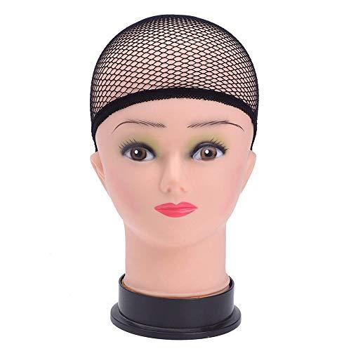 jkhhi 3 Pcs Bonnet Perruque Bonnet éLastique Noir Nylon Beige Bonnet à Mailles Outils Et Accessoires