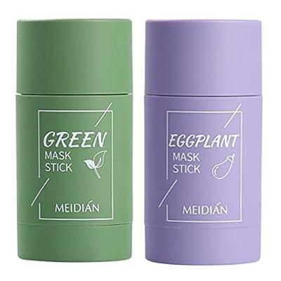 MODISH Green Tea Purifying Clay Stick Mask Oil Control Anti-Acne Eggplant Fine Solid (Green Tea+Eggplant) from MODISH