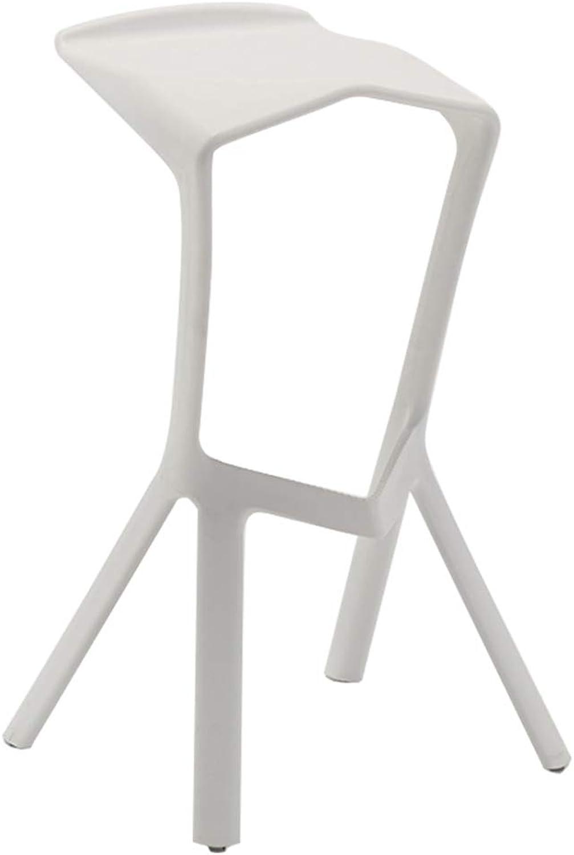 Qi Peng- Bar Chair Bar Stool Bar Stool High Chair Front High Stool Leisure Chair Beauty Chair Hairdressing Chair Bar Chair (color   White)