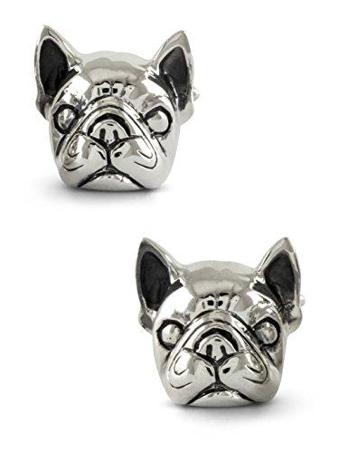 ZAUNICK French Bulldog Cufflinks Sterling Silver Handcrafted