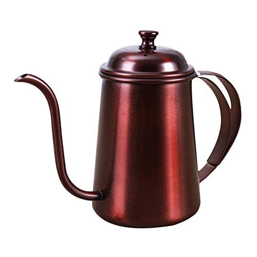 ABMBERTK Edelstahl fein Mund Topf, langlebig, leicht zu reinigen, verwendet für die manuellen Filterkaffee und Tee