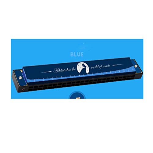 PNLD Harmonica, 24-holes Polyphonic C Professionele mannen en vrouwen Tone Piano Instrument, Rood Blauw