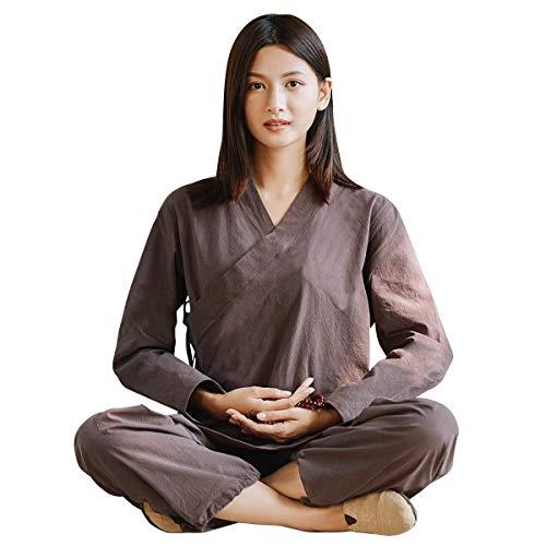 LJYY Traje de meditación Zen para Mujer, Ropa Tradicional C