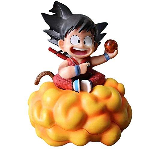 Figuras de Anime Dragón Ball Hijo Goku Infancia Nube Apretada Moda Decoración de la Moda Estatua Figura Figura Juguete Ornamentos Coleccionables Modelo Niños Juguetes Doll Regalo