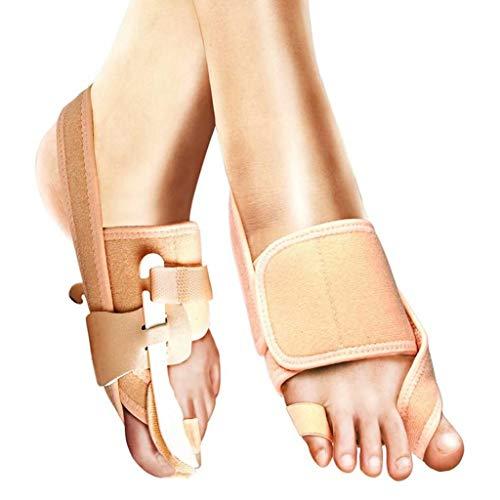 YANBINYA Corrector de Dedos en valgo, corrección de juanetes Alivio del Dolor en el pie separadores de Dedos de férula enderezadora órtesis de Hallux valgus,Correcto-S