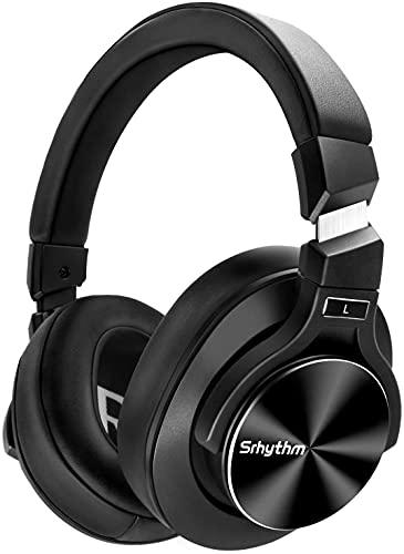 Auriculares Inalámbricos con Cancelación Activa de Ruido Bluetooth 5.0 - Srhythm NC75 Pro con Micrófono CVC8.0, Carga Rápida, Hi-Fi, 40+ Horas de Reproducción - Baja Latencia (Negro)