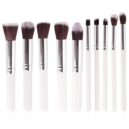 Makeup Brush Set,Makeup brushes 10pcs Premium Synthetic makeup Brushh,Soft and non-shedding,Foundation Blending Face Powder Eyeshadow Makeup brush kit