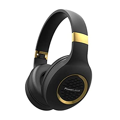 Bluetooth Headphones Over-Ear, PowerLocus Wireless Headphones, Hi-Fi Stereo Deep Bass, Soft Earmuffs Foldable Headphone with Built-in Microphone, Wireless and Wired Headset for Cell Phones,Tablets, PC from Powerlocus