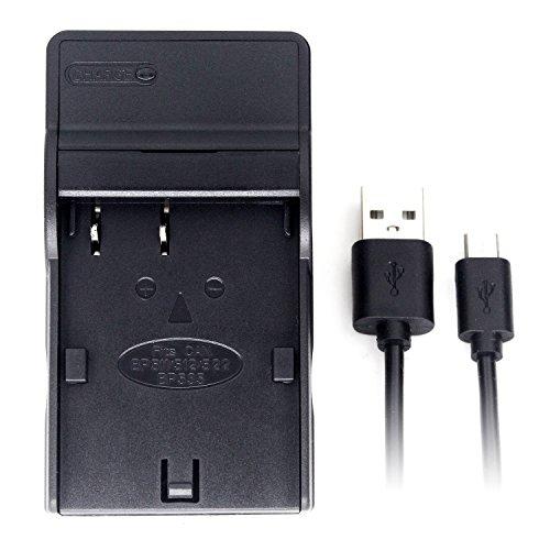 BP-511 USB Cargador para Canon EOS 10D, 20D, 30D, 40D, 50D, D60, MV630i, MV700, MV730i,...