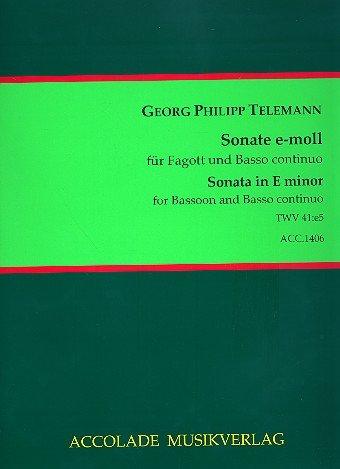 Sonate e-Moll TWV41:e5 : für Fagott und Bc