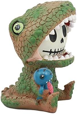 Furry Bones Tyrannosaurus Rex Dinosaur Costume Skeleton Monster Sit Up Ornament Figurine