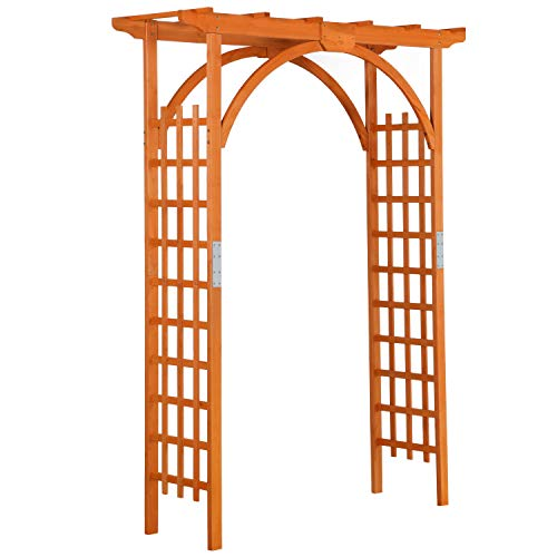 YAHEETECH 85in Wood Arbor Arch Wedding Arches for Ceremony Wooden Garden Trellis Arbor Climbing Planting Garden Patio Greenhouse Bridal Party Decoration Decor