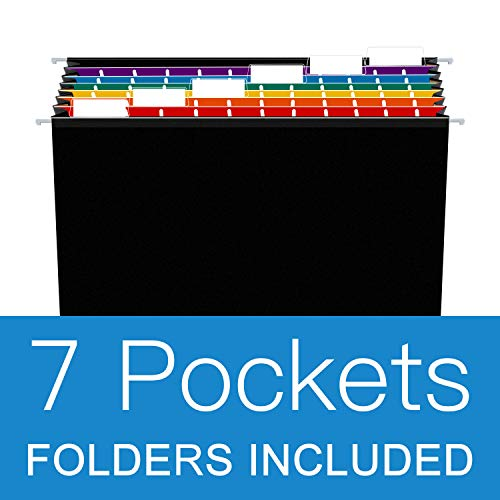 21 Pockets Hanging File Folders Letter Size,Accordian File Organizer/Expanding File Folder,Accordion Paper Document Organizer Colored File Box,Expandable Filing Folder with 24 Adjustable Tabs(3 Packs) Photo #2