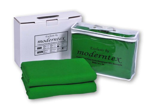 moderntex Greenscreen Hintergrund 8m lang x 3m breit
