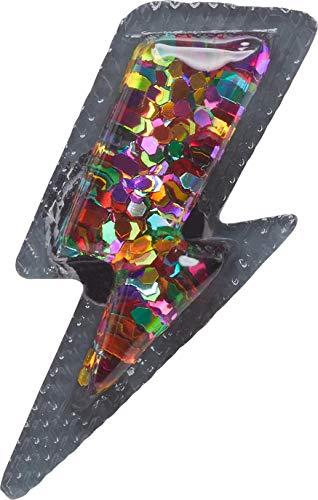 Crocs Rainbow Shoe Charms   Personalize with Jibbitz, Encantos para zapatos Unisex Adulto, Cerrojo con purpurina, Talla única