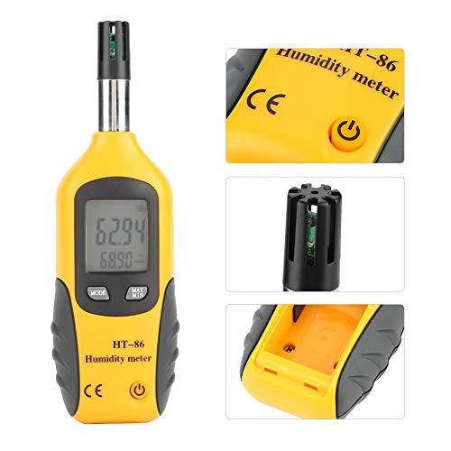 Digitales Feuchte- und Temperaturmessgerät, Digitales Thermometer Hygrometer Feuchtmittel-/Taupunkt-Temperaturmessgerät