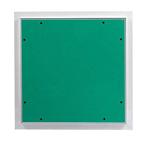 MW multi werkzeug Revisionsklappe 400 x 400 mm mit 12,5mm GK-Einlage imprägniert für Feuchtraum geeignet Aluminium-Rahmen weiß pulverbeschichtet 40 x 40 cm